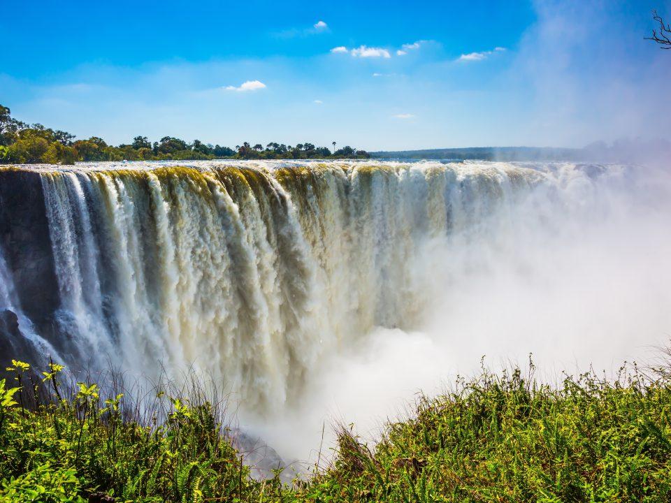 The,Famous,Victoria,Falls,On,The,Zambezi,River,In,South
